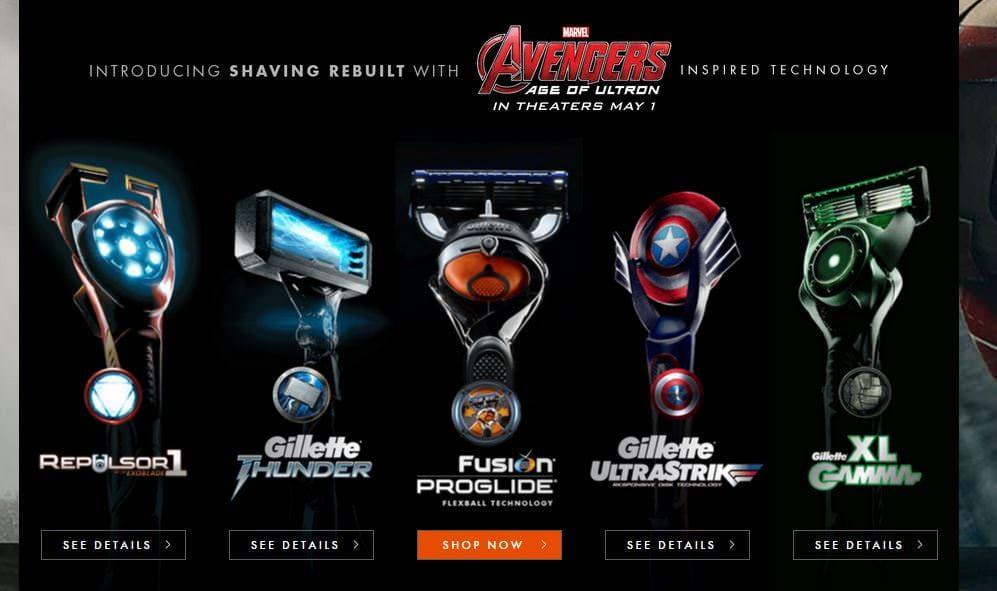 Gillette Avengers Rasierer
