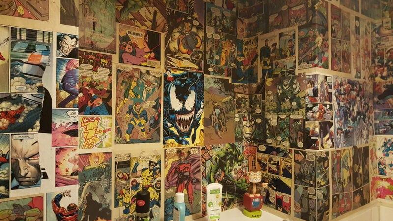 comic tapete aus echten comics comic station. Black Bedroom Furniture Sets. Home Design Ideas