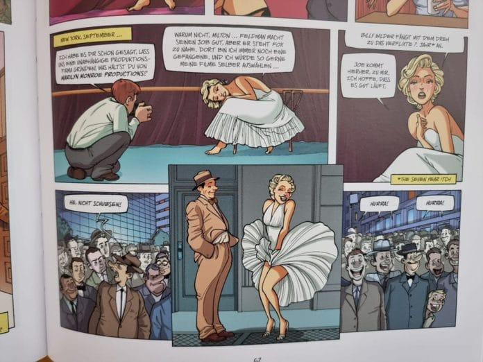 Comic über Marilyn Monroe