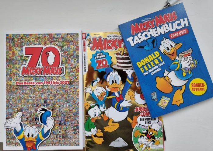 Micky Maus Magazin und Taschenbuch